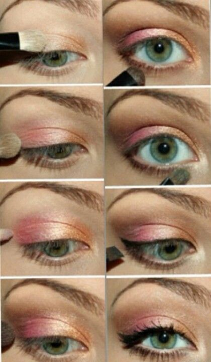 Light Pink And Brown Eyeshadow