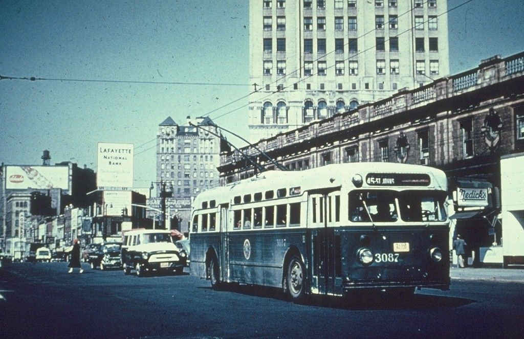 Brooklyn pullman trackless trolley public transport