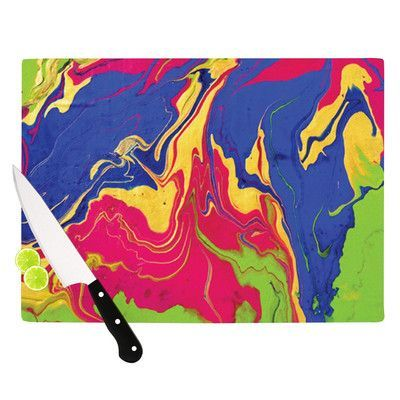 """KESS InHouse Escaping Reality by Claire Day Cutting Board Size: 11.5"""" x"""