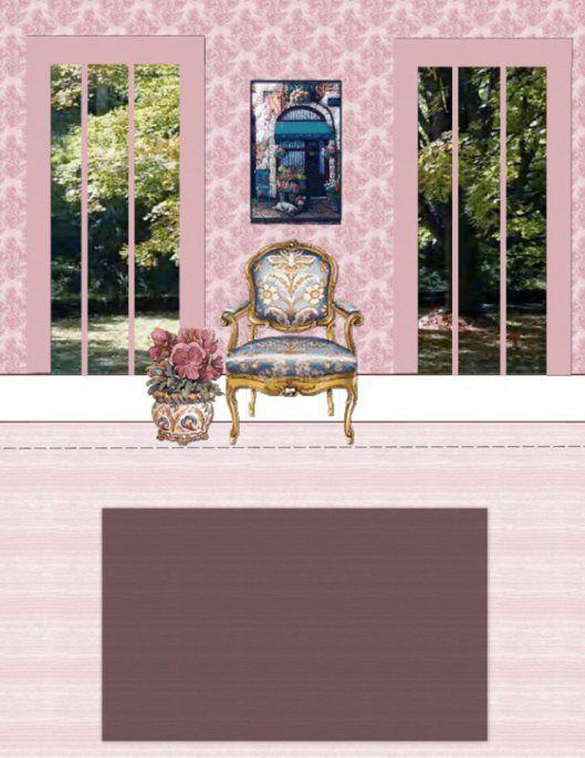 Paper Crafts Interior Model Living Room Paper Doll