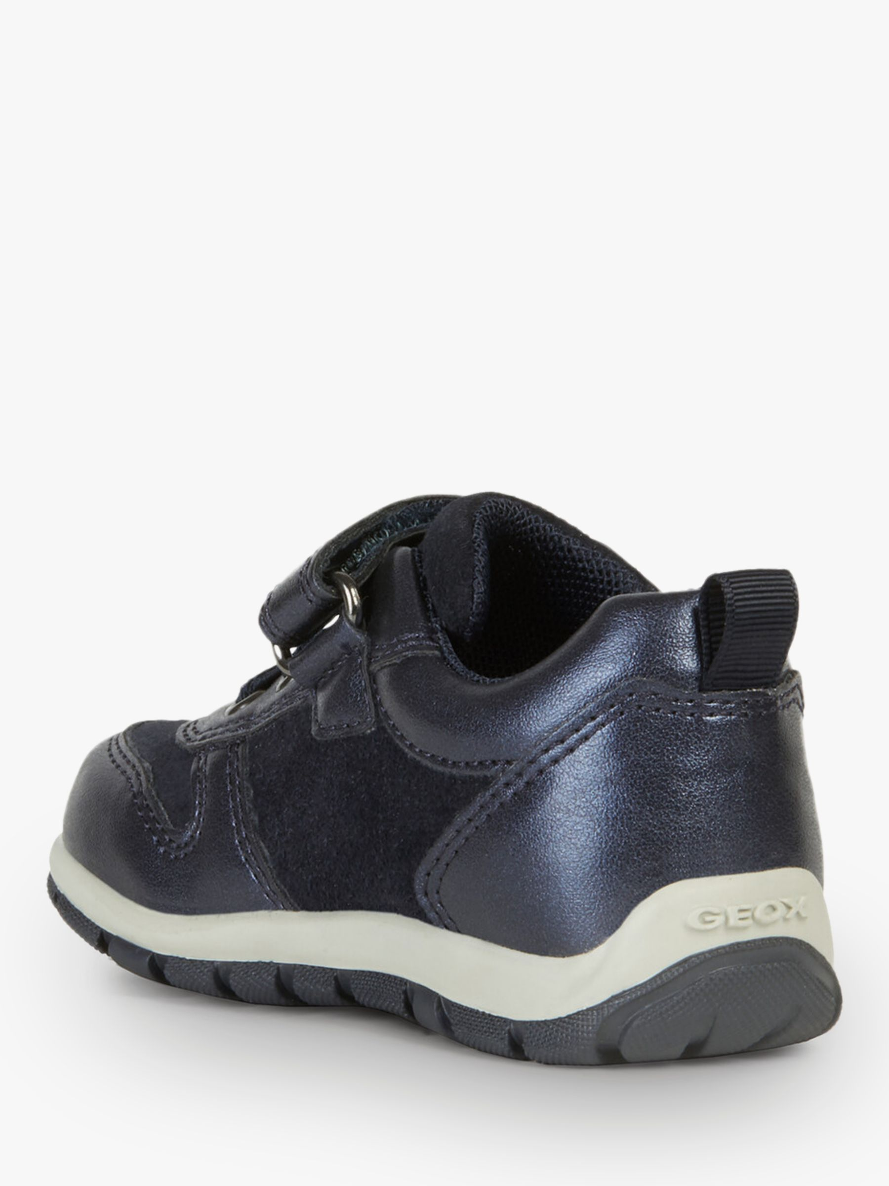 Rabatt-Verkauf klassisch attraktiver Stil Geox Children's Shaax Riptape Trainers, Navy | Girls shoes ...