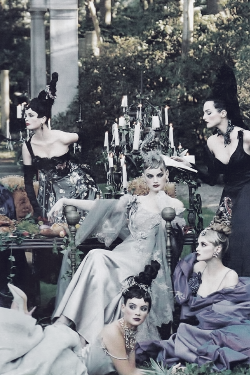 """""""A Feast For The Eyes"""" by Steven Meisel   Vogue US, December 1996."""