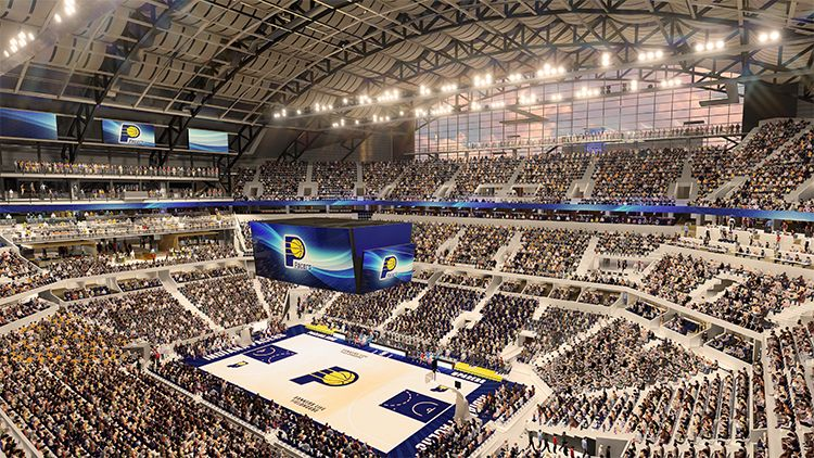 Bankers Life Fieldhouse Renovations Lease Extension Approved Arena Digest Bankers Life Fieldhouse Stadium Architecture Indianapolis
