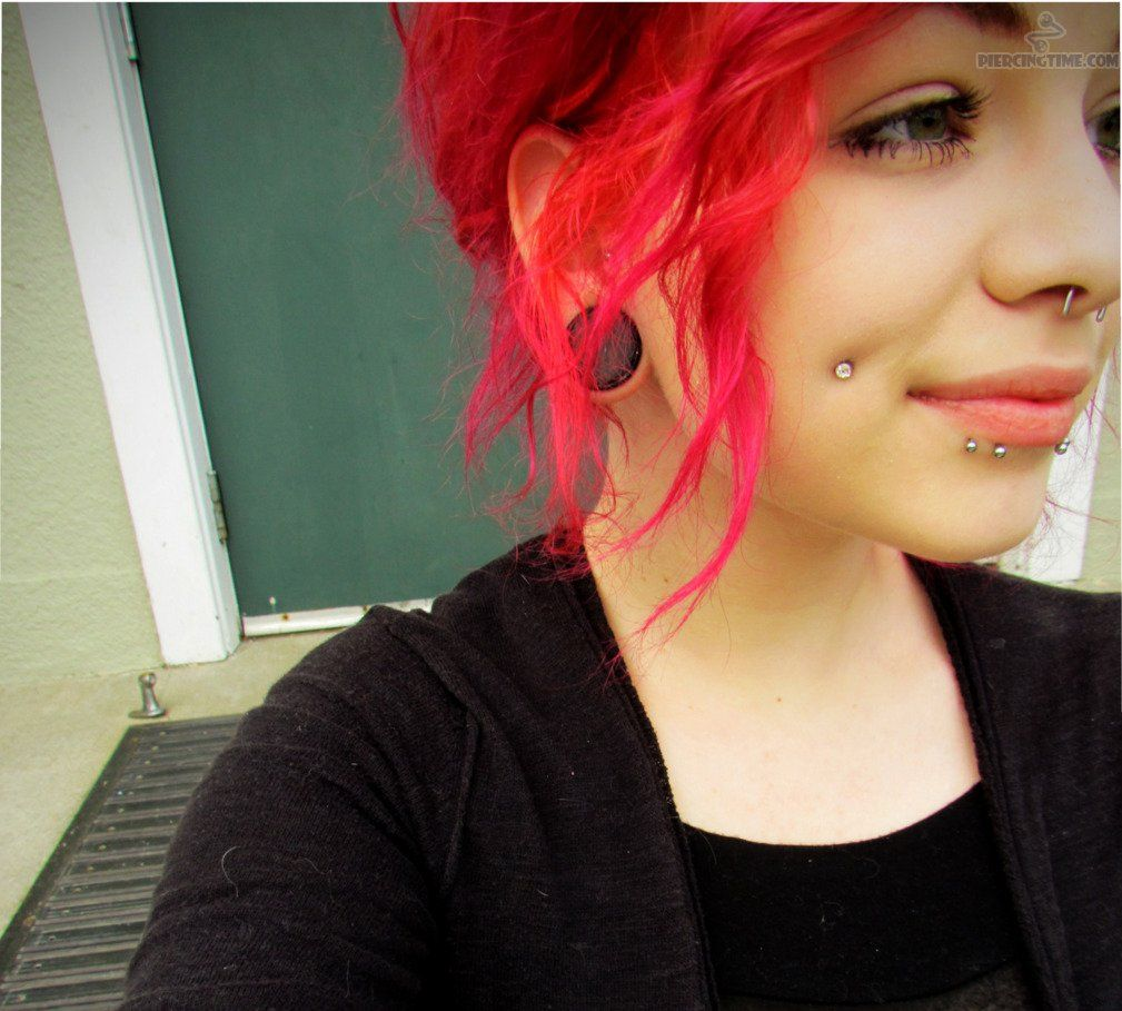 Fashion style Girls tumblr with dimple piercings for girls