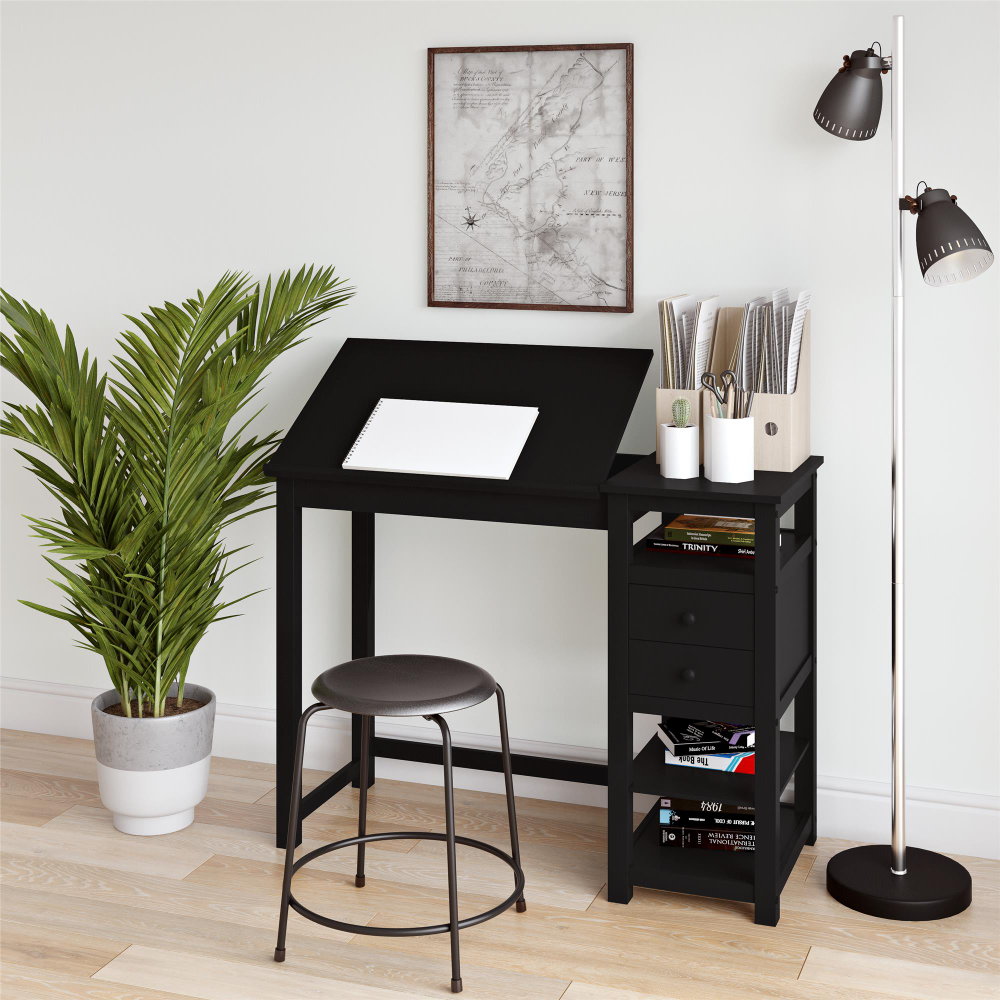 Dorel Living Dorel Home Drafting And Craft Desk, Espresso