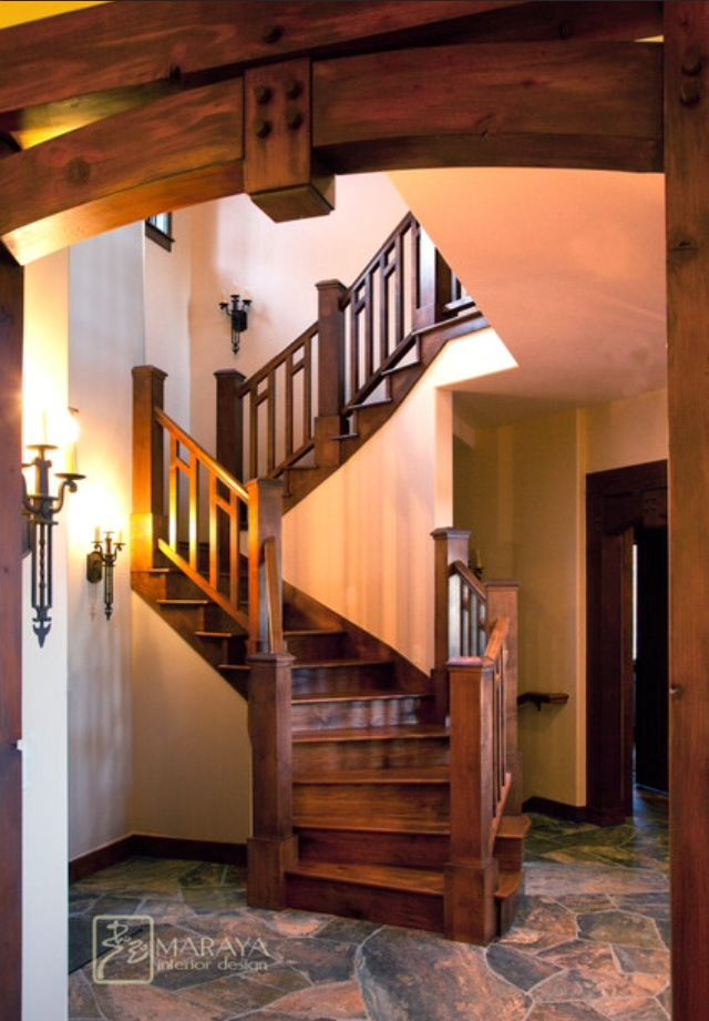 Best Staircase In A Rustic Home Craftsman Staircase 400 x 300