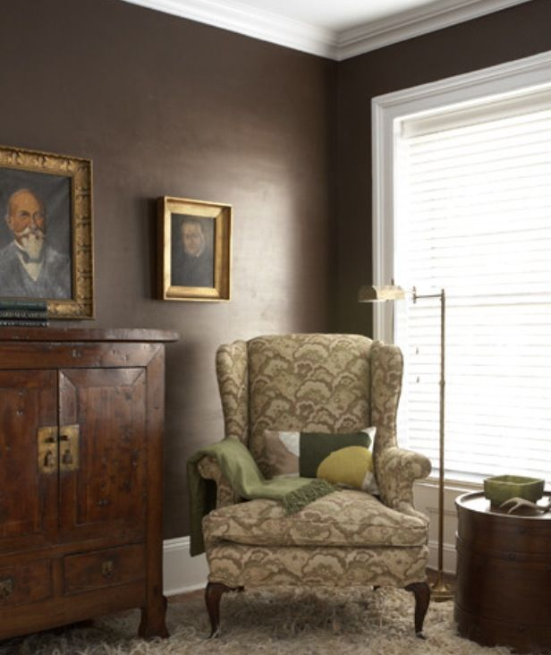 Rooms With Dark Brown Accent Wall: Mink By Benjamin Moore - Dining Room Accent Wall
