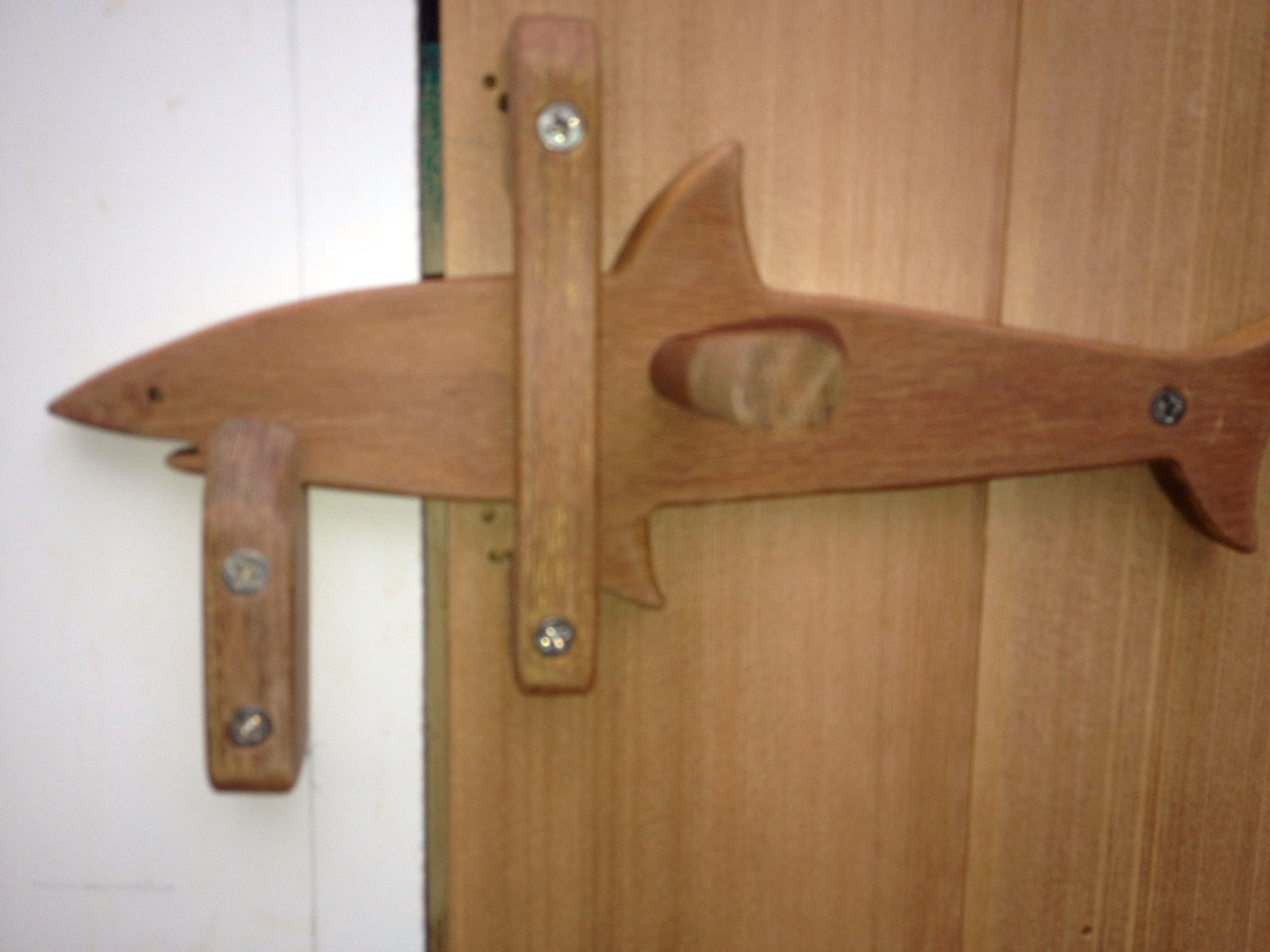 Tara 39 s outside shower latch just because i like it for Wooden outer doors
