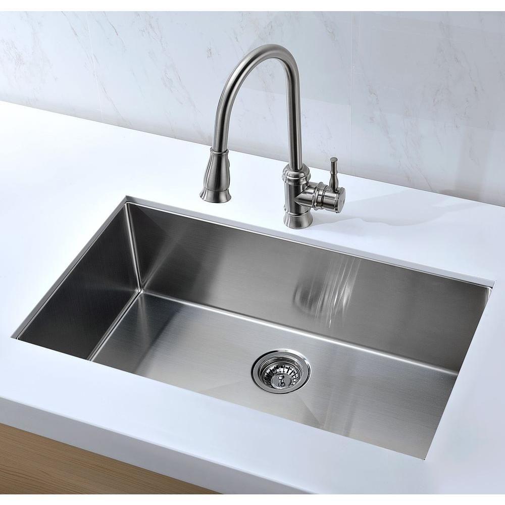 Home Depot ANZZI Vanguard 32 inch stainless steel undermount sink