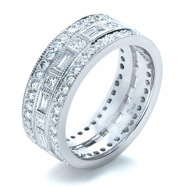 Diamond Wedding Bands For Women In Platinum