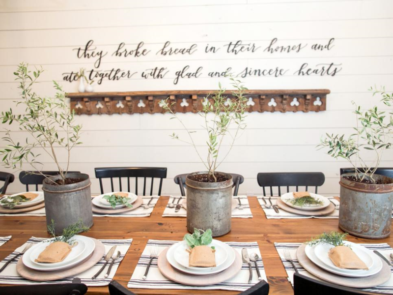 Chip And Joanna Gaines Barn Reno To Home Sweet They Broke Bread Love The Verse On Wall