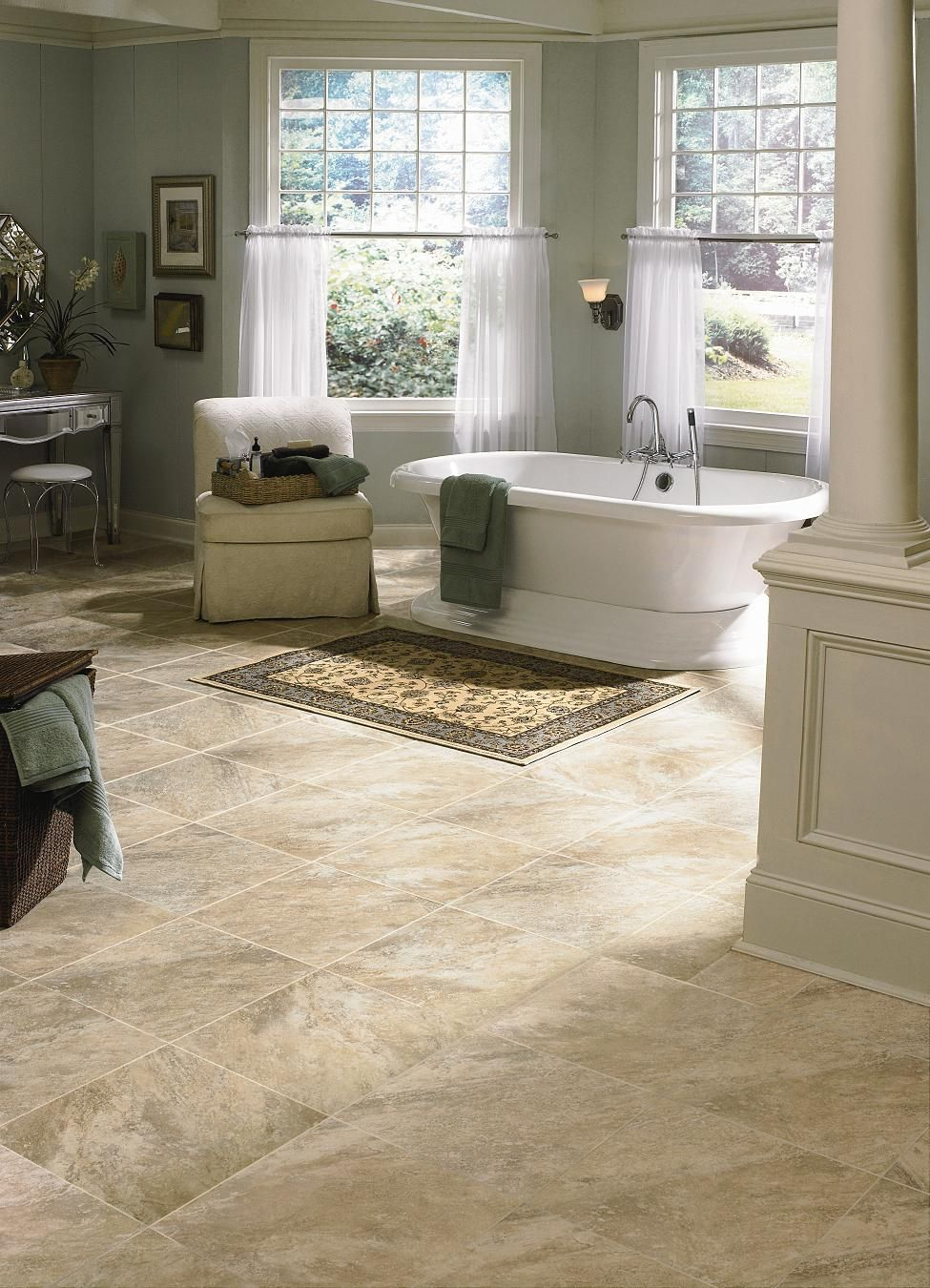 Manningtons Seaside Luxury Vinyl Tile Available At Oscars Carpet