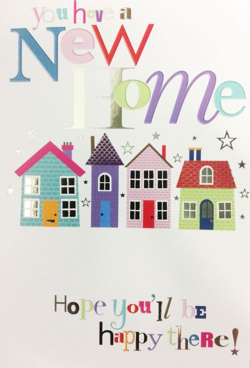 New House Greeting Card Greeting Cards For New House For Moving Home Cards Template New Home Cards New Home Greetings Moving House Card