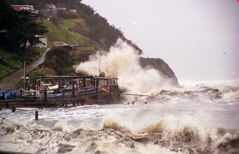 We Would Wait Between Sets To Go Out Our Front Door During A Storm Like This California Surf Boat Dock Favorite Places