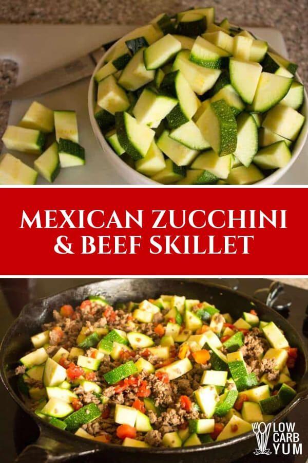Zucchini Ground Beef Skillet #lowcarbmeals