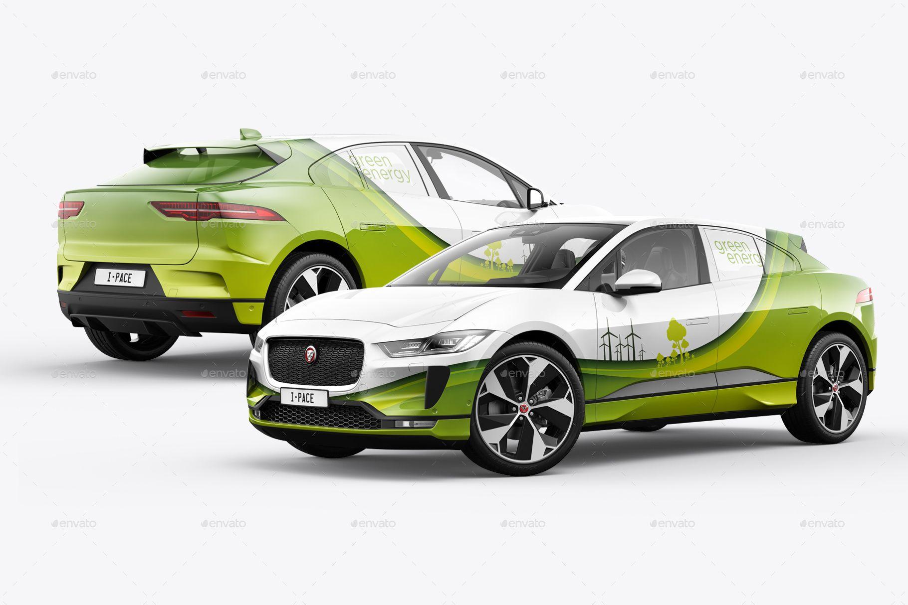 I Pace Electric Car Mockup Car Electric Car Car Wrap [ 1214 x 1820 Pixel ]