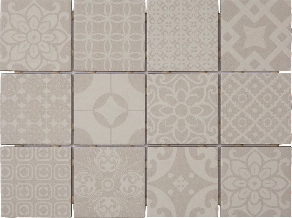 Saga Silver Mix Decor 10x10 Kuvalaatta 1 44m2 Krt Varisilma Decor Tile Floor Crafts