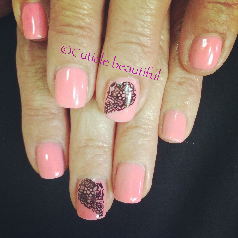 CND Shellac in Gotcha with Dashing Diva nail tattoo! #cnd #shellac ...