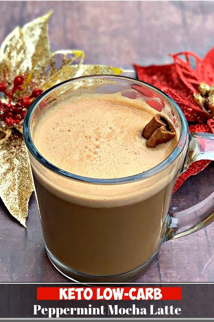 Keto lowcarb starbucks copycat peppermint mocha latte is