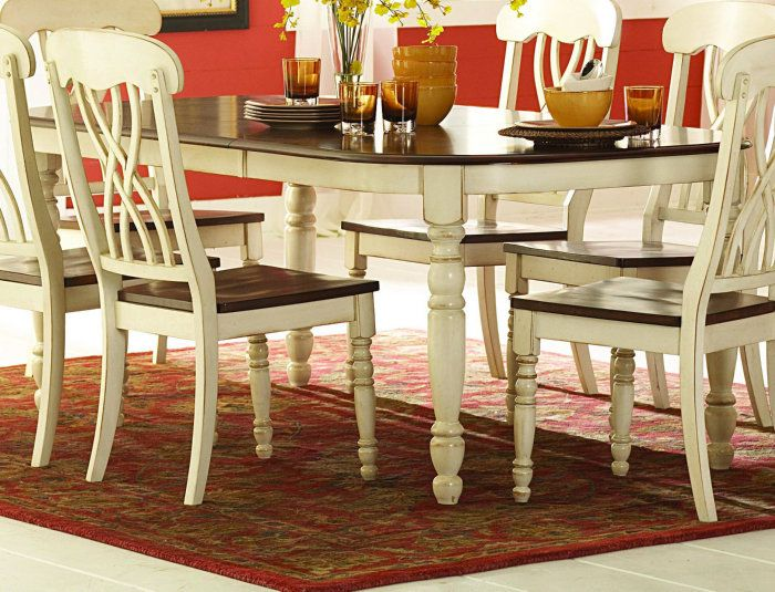 Buy Homelegance Ohana 60x42 Dining Table in Antique White on sale online | White dining set ...