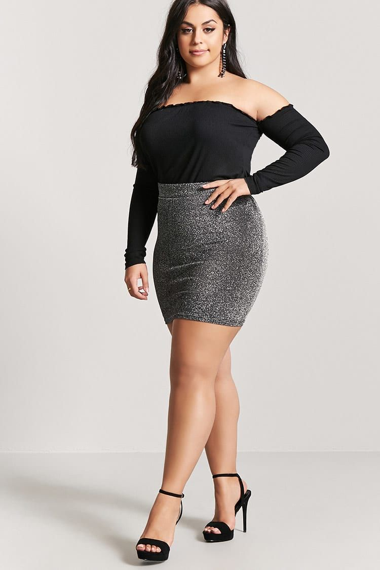 b61c25ca5f5 Product Name Plus Size Metallic Mini Skirt