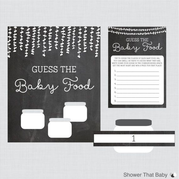 baby food jar label template - guess the baby food baby shower game activity printable