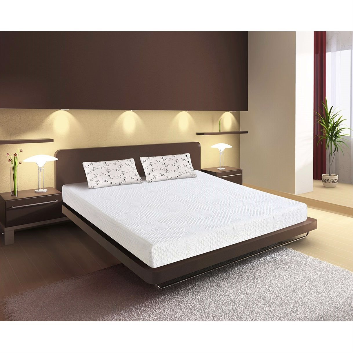 Full size 3layer cushion firm 6inch thick memory foam