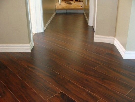 Laminated Planks Dark Walnut Diagonal 45 Pattern Installation