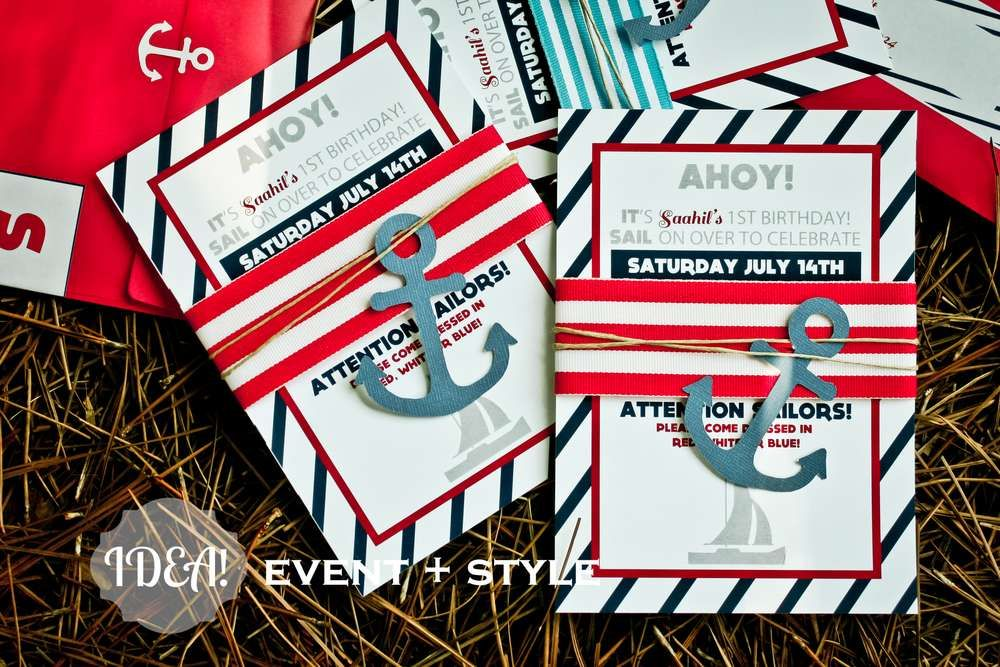 Ahoy Sailor\' Nautical Party Birthday Party Ideas | Nautical party ...