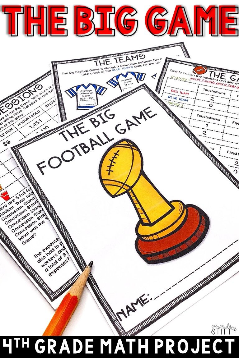 Add This Engaging Super Bowl Math Project To Your Math Centers Perfect Way To Review Basic Math Projects Football Math Activities Upper Elementary Activities [ 1152 x 768 Pixel ]