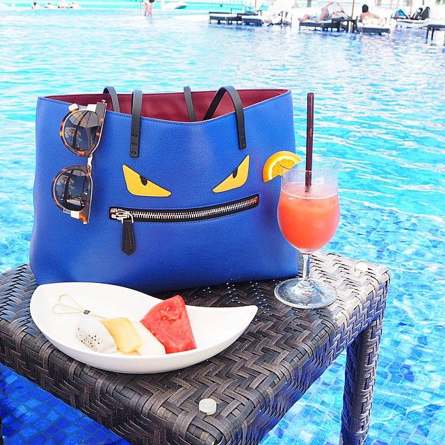 There is no better beach accessory than this fierce @fendi #monstertote 😆…
