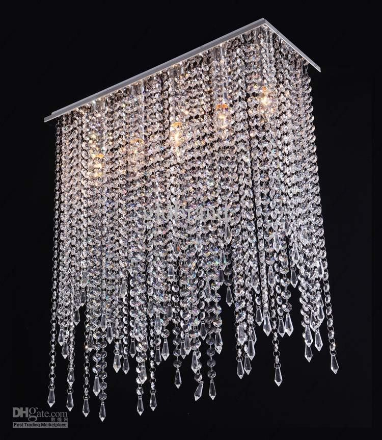 Cheap Crystal Chandelier Best 100cm Modern Contemporary Crystal Pendant Light Ceiling Lamp Online Cool Chandeliers Crystal Lighting Modern Crystal Chandelier