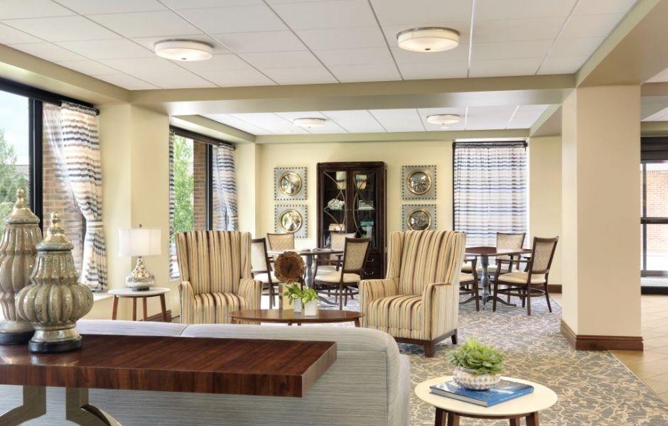 Bethesda Dilworth Entry Lounge   Furniture Dealership   Senior Living  Interior Design By Spellman Brady U0026