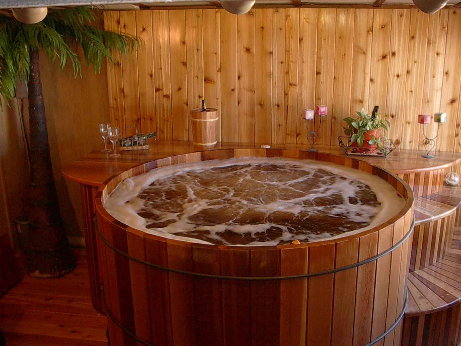 Cedar Hot Tub. Way less ugly than the alternative. | Interiors ...