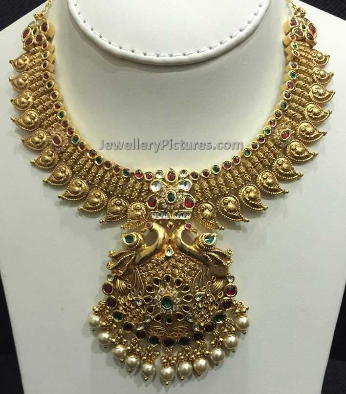 Antique necklace and antique finish necklaces Latest designs ...