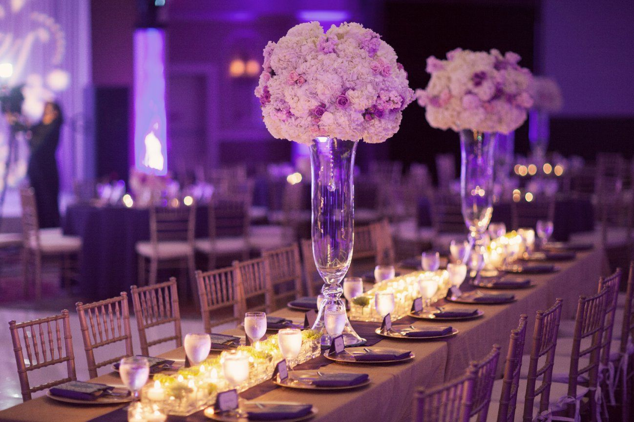 Top 19 wedding reception decorations with photos purple for Small table decorations for weddings