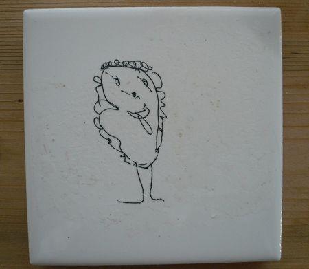 Transfer Kid S Art Onto Ceramic Tiles Using Inkjet Printer
