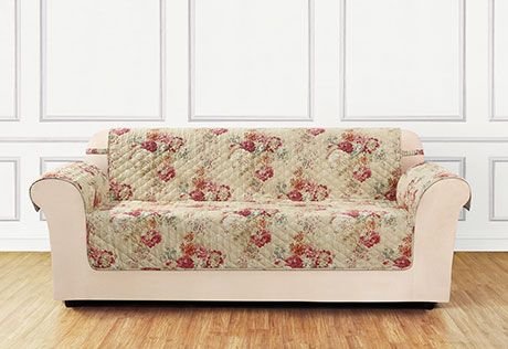 Superb Ballad Bouquet By Waverly One Piece Loveseat Slipcover Andrewgaddart Wooden Chair Designs For Living Room Andrewgaddartcom