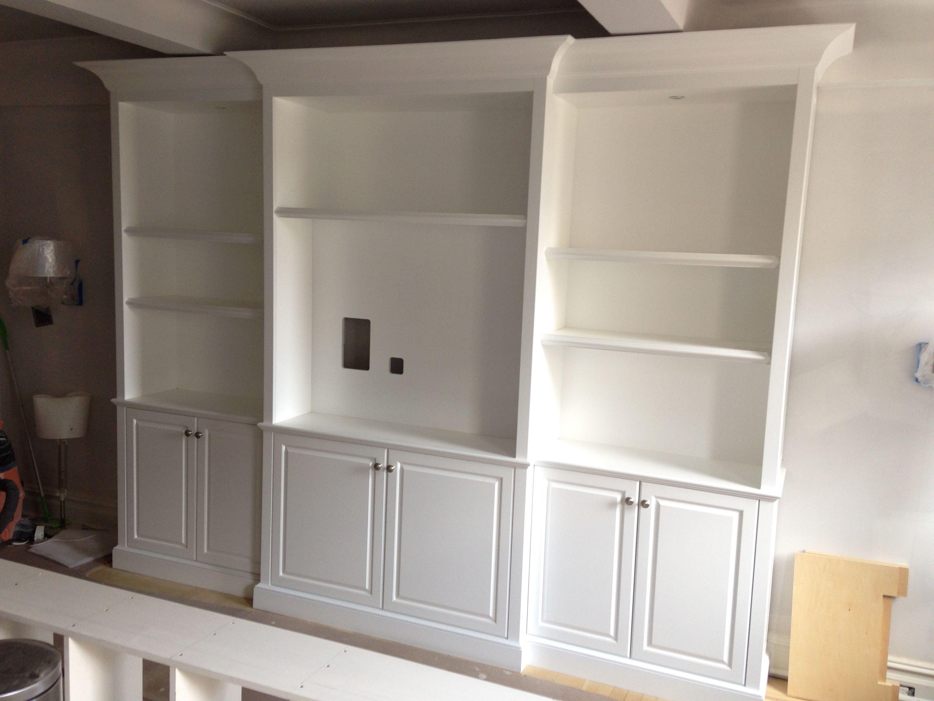 Best Shop Sprayed Finish White Media Center Cabinetmakernyc 400 x 300