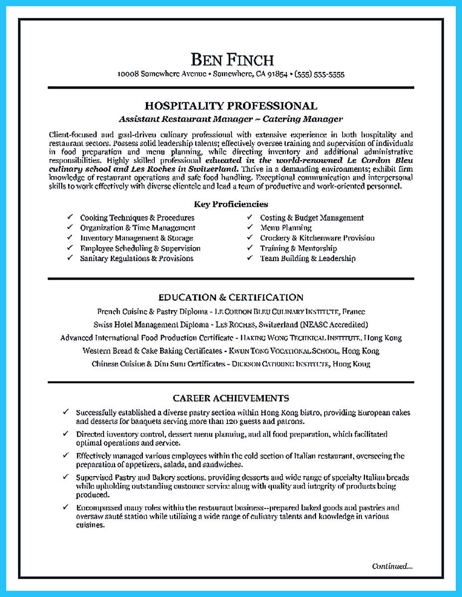 Resume Title Examples Nice Excellent Culinary Resume Samples To Help You Approved Check