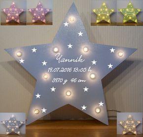 Schlummerlicht kleine Sterne Lampe Geschenk Baby Geburt Taufe mit ...