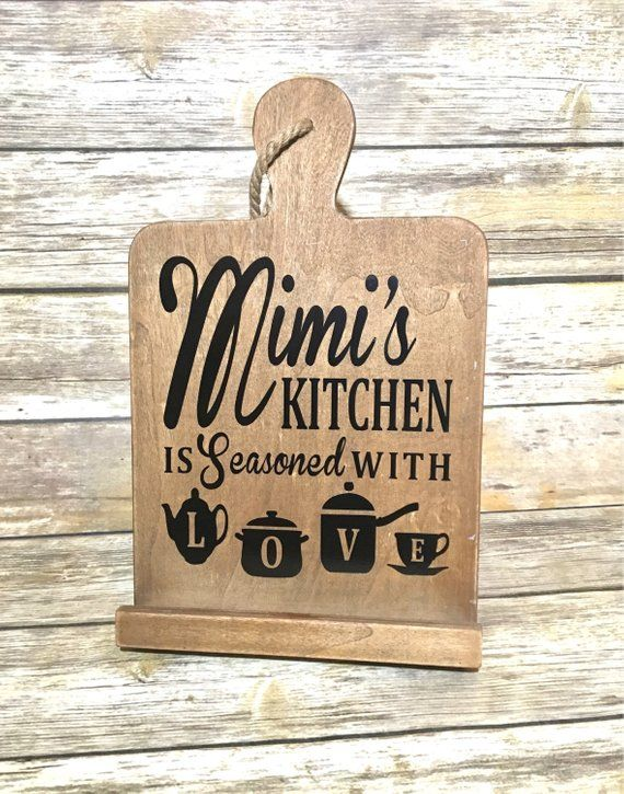 Mimi S Kitchen Is Seasoned With Love Cookbook Stand Tablet Stand