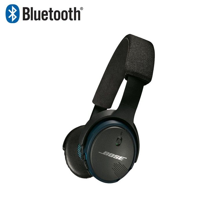 Bose SoundLink (R) On-Ear Bluetooth (R) Headphones - Black...Call for Pricing The Bose SoundLink® On-Ear Bluetooth® Headphones connect wirelessly to your smartphone, iPad® or other Bluetoothdevice. Best-in-class sound with wireless convenience. Simultaneously connect to two devices; switch easily between music and calls. Rechargeable lithium-ion battery provides up to 15 hours of listening time.