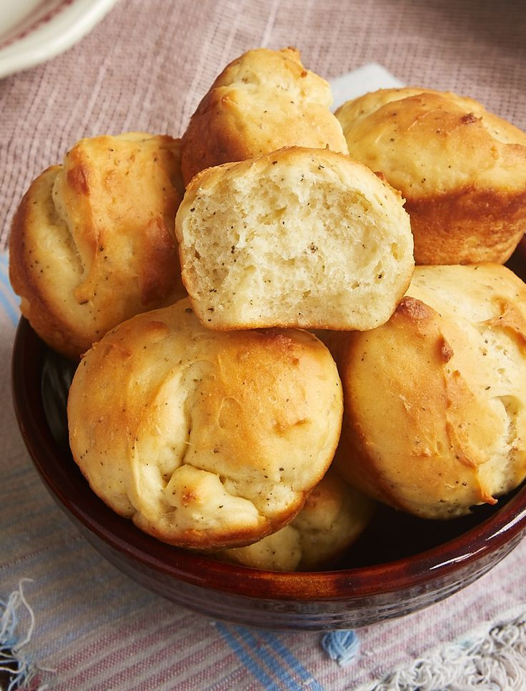 Cracked Pepper Sour Cream Rolls Recipe Savoury Baking Stuffed Peppers Easy Yeast Rolls