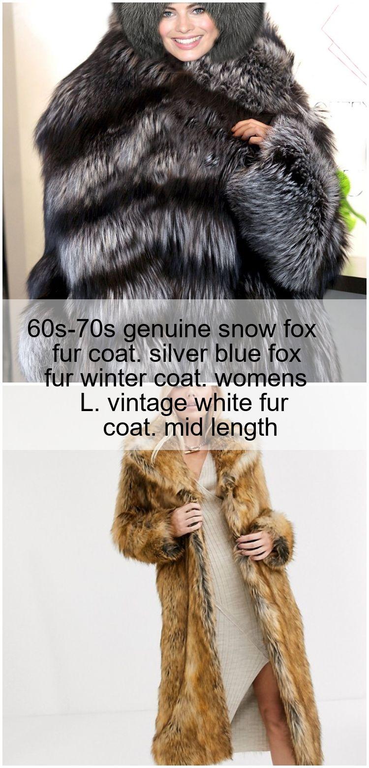 Manteau de fourrure de renard de neige des années 60-70 authentique. manteau d'hiver en f... #neiged#39;hiver