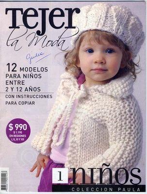 Revista con patrones de punto para niños, Tejer la Moda... | Knit ...