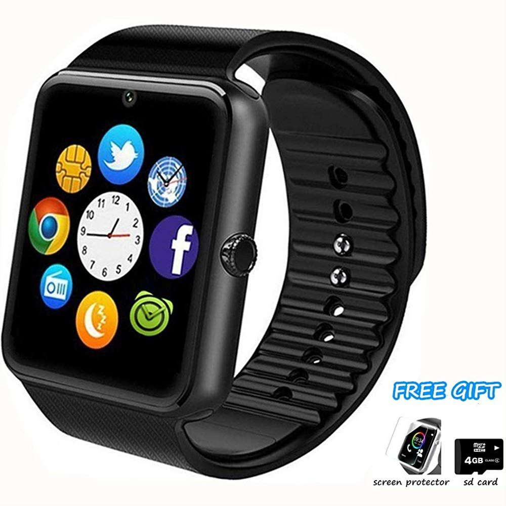 Smart Watch Phone Smartwatch With Pedometer Tf Sim Card Slot Camera Call Text Sms Notification Compatible With Android Samsung Hu Smart Watch Pedometer Huawei