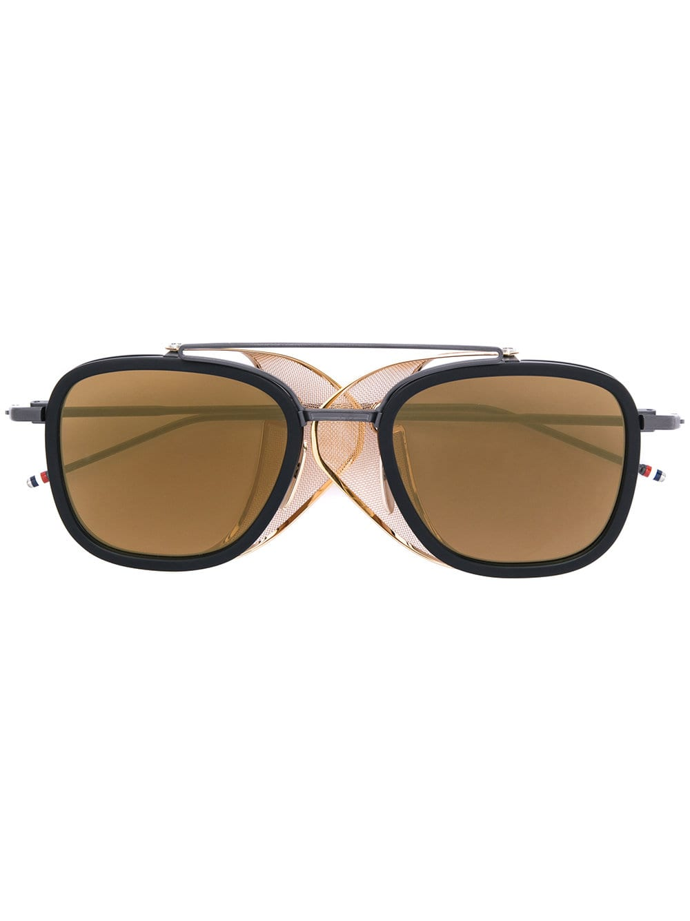 f514fe655c Thom Browne Eyewear Black & Gold Mesh Side Sunglasses, 2019 ...