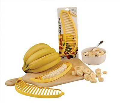 Banana Slicer: Just peel your banana, and push this gadget down from top; it creates evenly sliced pieces.