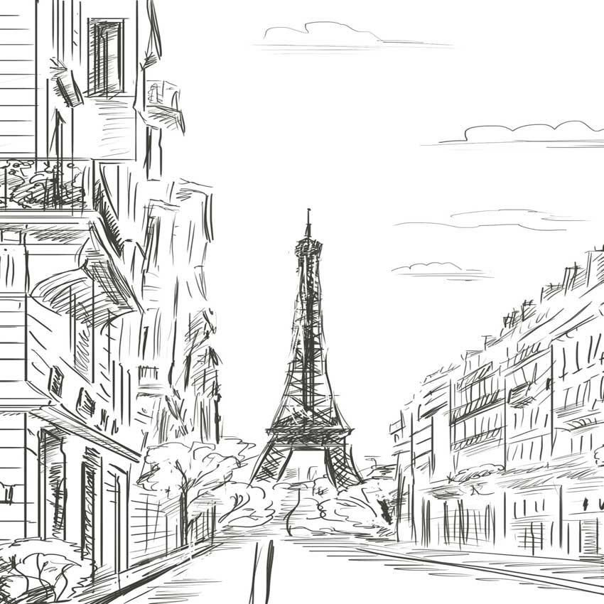 реже черно-белые картинки для распечатки города привлекательных